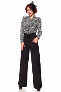 High Waist Marlene Trousers - Black