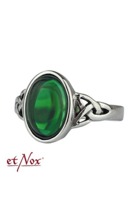 etNox Ring Celtic Green  - stainless steel + zirconia